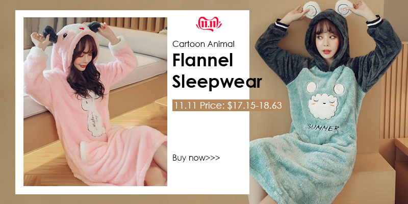 JULY'S SONG Flannel Women Pajamas Sets Autumn Winter Pajamas Cartoon Thick Warm Women Sleepwear Cute Animal Female Homewear 20