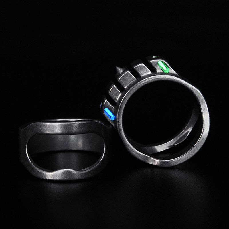 Emitting Light For 25 Years Body Ring Tritium Luminescence EDC Multifunctional Defense Window Breaker Individual Protective