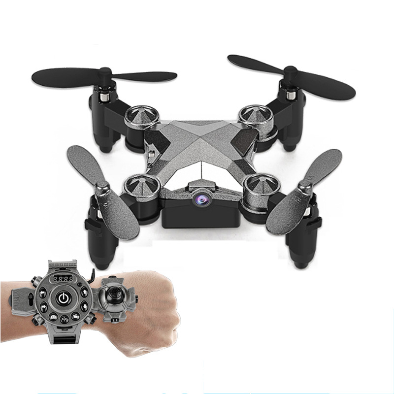 Hot Sales Watch Unmanned Aerial Vehicle Folding Mini Aerial Photography WiFi Remote Control Aircraft Mini Quadrocopter Toy