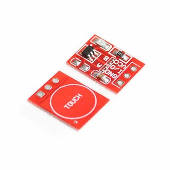 TTP223 touch button module self-locking, inching, capacitive switch, single-way transformation image