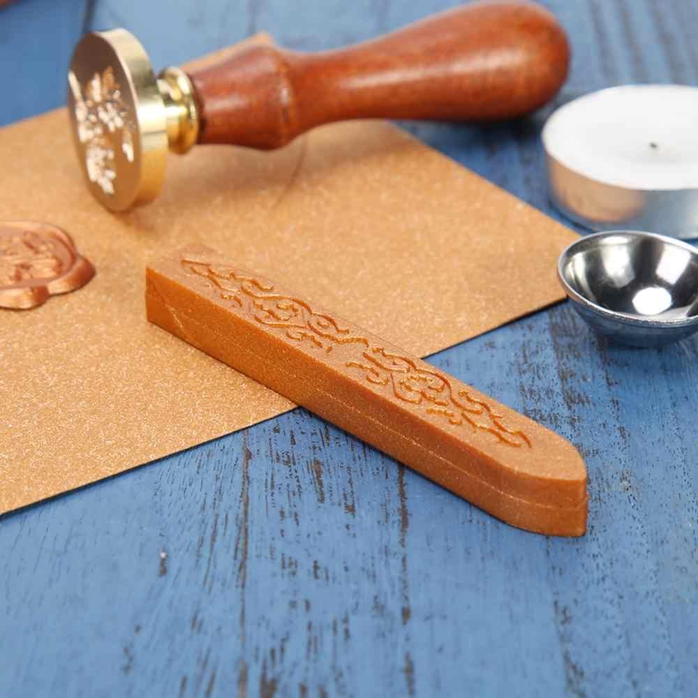 10 cores retro antigo vara de cera de vedação para diy envelope carta convites de casamento artesanato decoração do vintage varas de cera de vedação