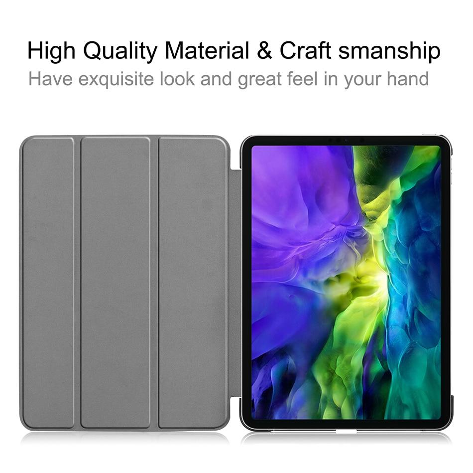 MTT Case For iPad Pro 11 inch 2nd Gen 2020 Funda A2228 A2231 Slim PU Leather