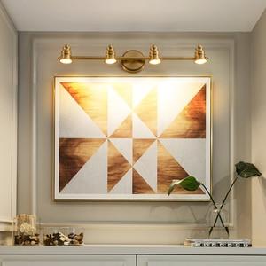 Image 3 - Maquiagem Profissional Completa Bathroom Mirror Front Lamp Full Copper Bedroom Dresser Lighting Modern Minimalist LED Wall Light