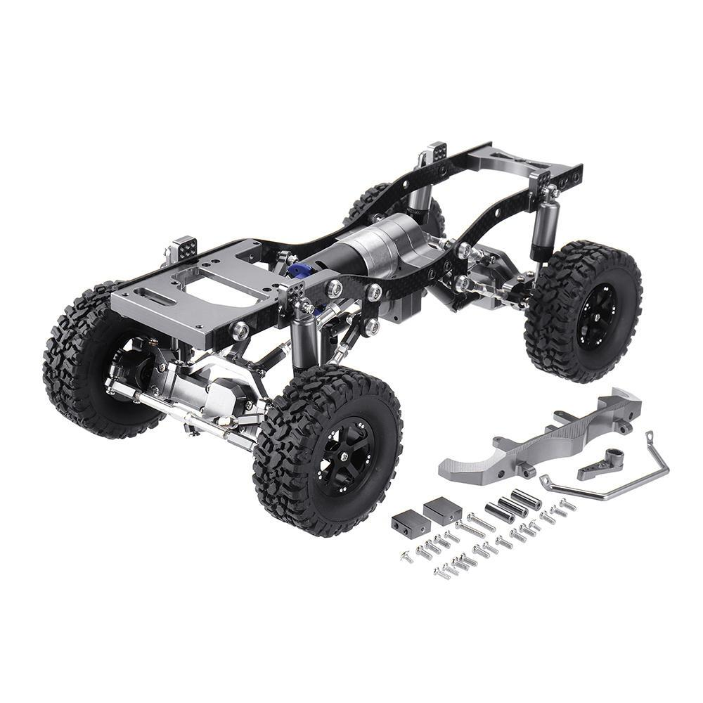 <font><b>WPL</b></font> C14 <font><b>C24</b></font> Metal RC Car Chassis Upgrade Parts Wheelbase Assembled Metal Frame for 1/16 RC Vehicle Models image