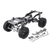 WPL C14 C24 Metal RC Car Chassis Upgrade Parts Wheelbase Assembled Metal Frame for 1/16 RC Vehicle Models