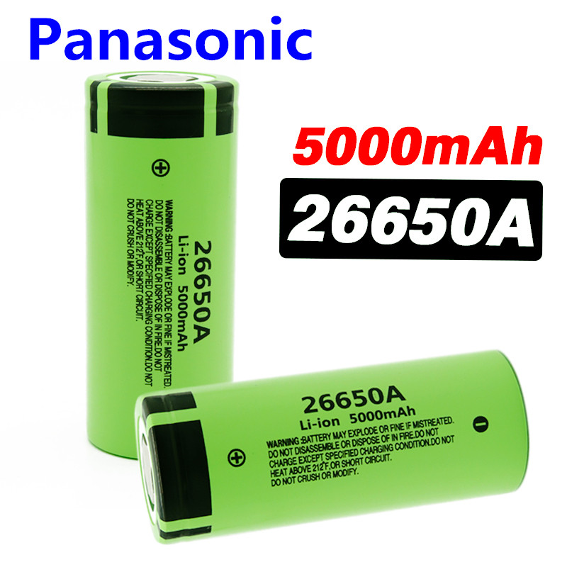 Panasonic100% Original New Battery 26650A 3.7V 5000mAh High Capacity 26650 Li-ion Rechargeable Batterie for LED flashlight image