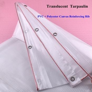 0 38mm przezroczyste plandeki pcv dom dla zwierząt pokrywa przeciwdeszczowa tkaniny markiza zewnętrzna ogród sukulenty utrzymać ciepłe cieniowanie żagle tanie i dobre opinie SgooHan CN (pochodzenie) Odcień żagle obudowa nets Z-0095 Powlekany pcv Translucent PVC Rainproof Cloth Translucent White