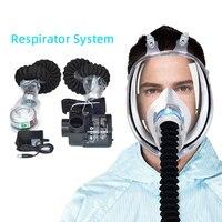 Electric Air Supply mask respirator full face gas mask respirator Welding Helmet Respirator System protection respirator