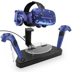 Wireless Helmet Handle Dual Charging Stand Dock Holder Charger for HTC VIVE/VIVE Pro Controller Accessories