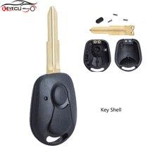 KEYECU 2PCS/Lot Remote Key Shell Case Fob 2 Button for SsangYong Actyon Kyron Rexton