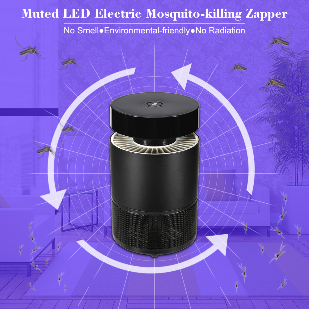 Muted LED Electric Mosquito-killing Control Lamp Fly Pest Bug Insect Zapper Killer Trap LED Mosquito-killing Lamp For Home