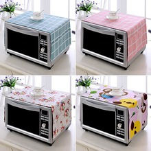Microwave-Cover Kitchen-Decoration Dust-Cover Oven Printed with Storage-Bag