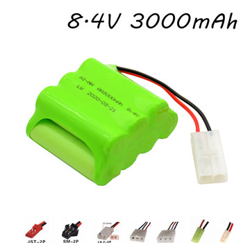 Upgrade 8.4V 3000mAh NIMH Battery For Rc Car Tanks Trains Robot Boat Gun Toys Ni-MH AA 2400mAh 8.4v Rechargeable Battery Pack image
