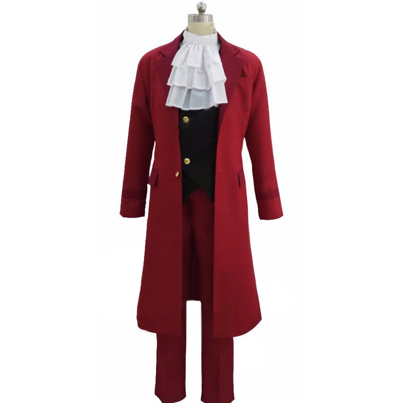 Miles Edgeworth Cosplay Clothing Phoenix Wright Anime Ace Attorney Cosplay Costumes| | - AliExpress