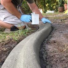 Flooring Concrete Trowel Diy Landscape With Handle Skimming Grout Curb Edger Plastering Yard Construction Shape Tile Garden U1A4