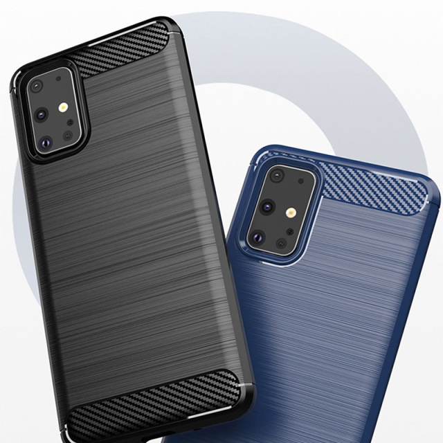 Brushed Carbon Fiber Silicone Back Case Cover for Samsung Galaxy S20 Plus Ultra S10 S9 Note 10 A51 A71 A50S A70 A20 A10 M30S