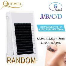 Any Size 5 Trays Individual Lashes False Mink Eyelash Extension Natural Lash Professionals For Training School