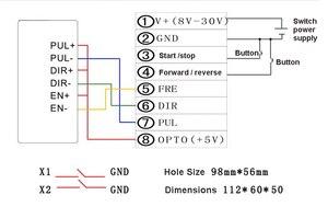 Image 5 - Hız RPM ekran step Servo Motor sürücü denetleyici kurulu hız ayarlanabilir ters sabit uzunluk sürekli yuvarlak gezi