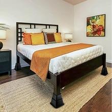 Pacote de 8 elevadores de cama para móveis de cama pesados, altura ajustável-3/5/8 Polegada, armazenamento adicional em casa