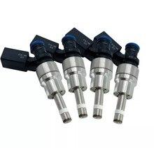 4 pces 06f906036a 0261500020 gdi injector de combustível para V-W & AUD-I besouro/passat/JETT-A/a3/a4/tt 2.0l l4 turbocharged