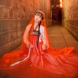 Image 5 - Hanfu จีนเต้นรำเครื่องแต่งกายแบบดั้งเดิมชุดเวทีสำหรับนักร้องผู้หญิงโบราณพื้นบ้านเทศกาลเสื้อผ้า DC1133