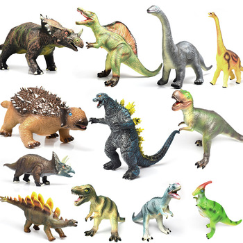 Soft Plastic Dinosaur World Model Toy Simulation Silicone Large Animal Tyrannosaurus Triceratops Toys with Sound Gift for Kids