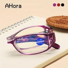 Женские складные очки для чтения ahora в стиле ретро с цветочным