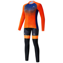 KR INEOS Cycling Clothing Set Women Autumn Breathable Bicycle Clothes Anti-UV Bicycle Clothing Long Sleeve Cycling Jersey Sets wosawe 2016 women s lycra breathable autumn cycling clothing sets long sleeve cycling jersey set cheap cycling jerseys