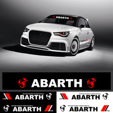 цена на Auto Accessories Front Windshield Stickers Banner Decal Racing Film Car Styling For Fiat Viaggio Abarth Punto 124 125 500 ect.