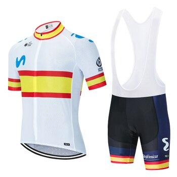 2020 EQUIPO movistar ciclismo jersey 20D bicicleta pantalones cortos conjunto mtb Ropa...