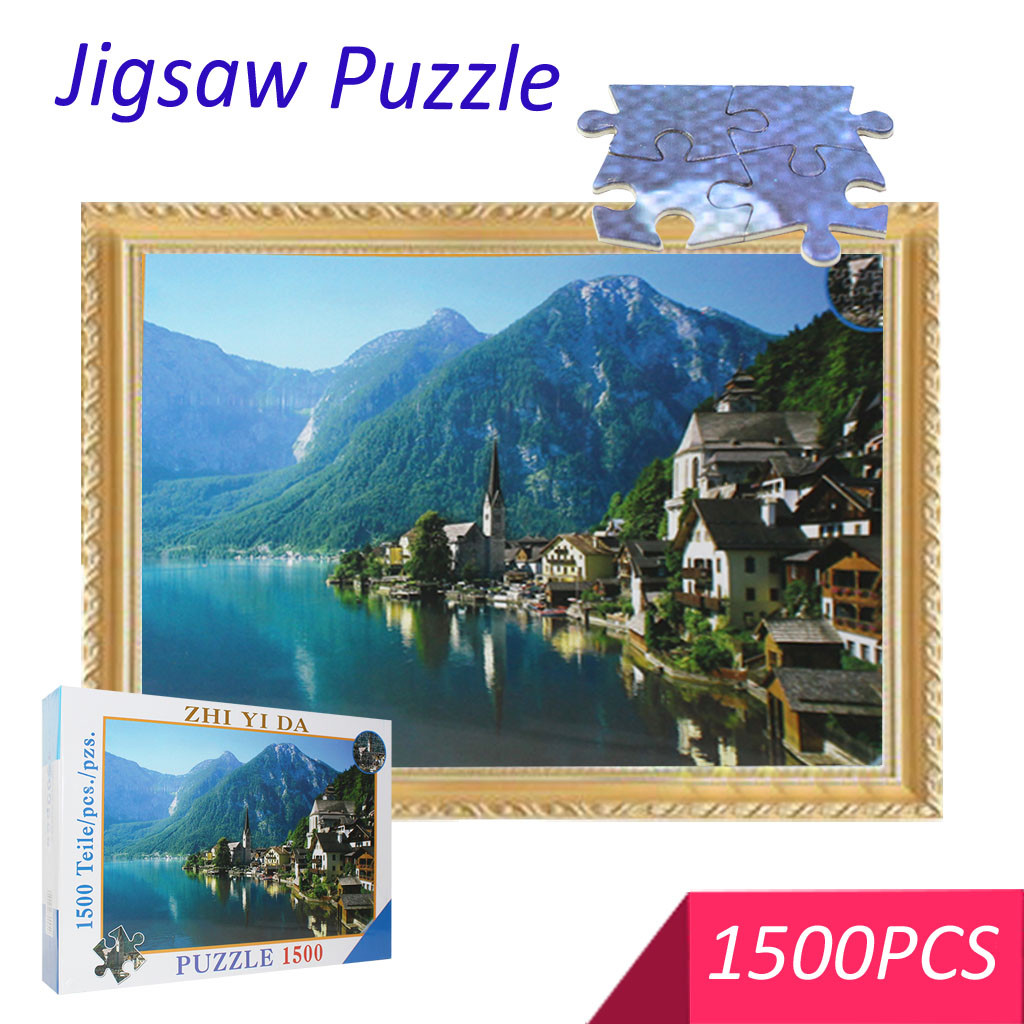 Jigsaw Puzzles 1500  Pieces Puzzles Adult Children's Educational Holiday Puzzle Parent-child Toy  Educational Wooden Toys