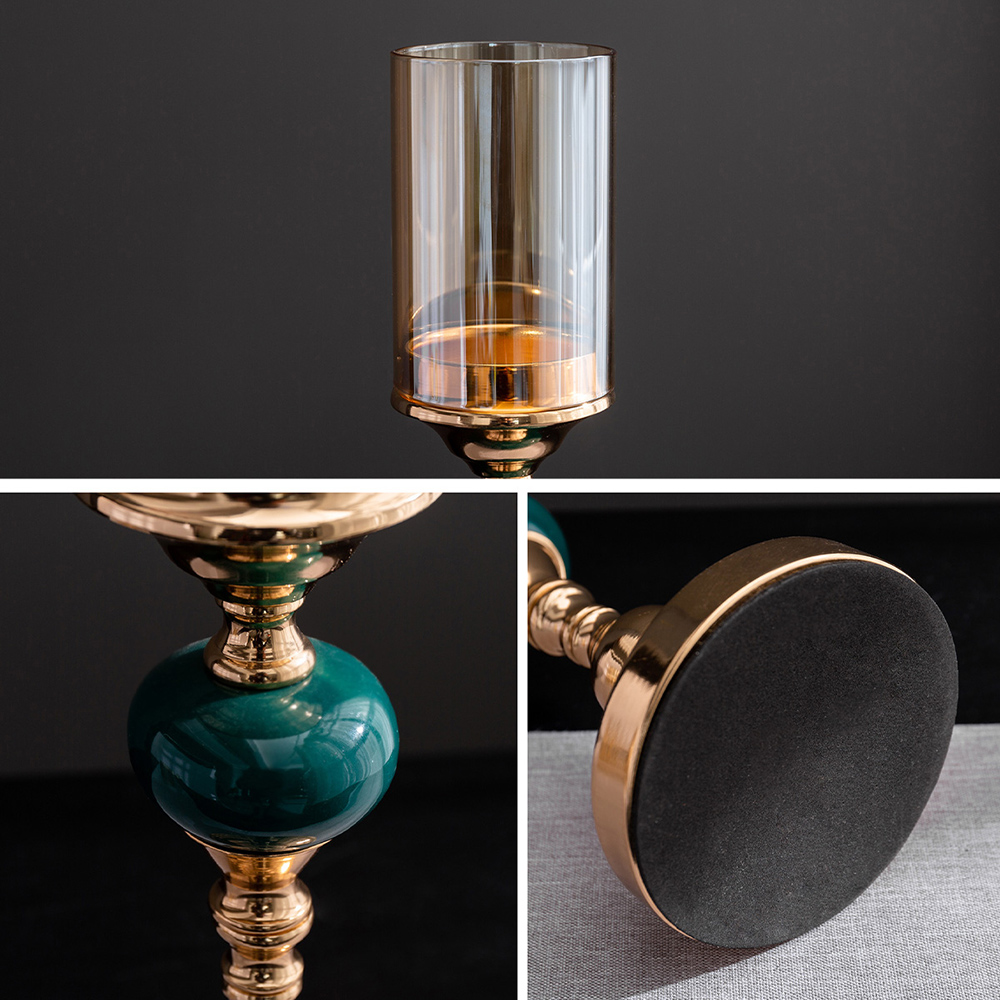 Modern Metal Glass Candle Holder  6