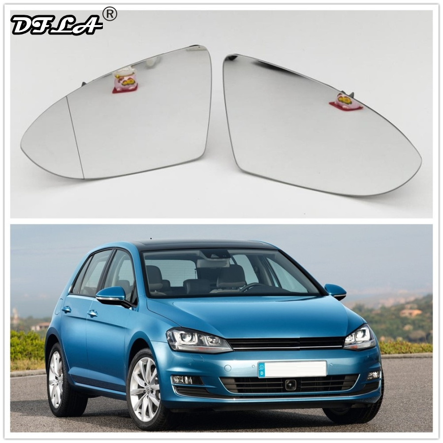 Зеркальное стекло для VW Golf 7 MK7 2013 2014 2015 2016 2017 2018 автомобильное Стайлинг Автомобильное зеркало заднего вида с подогревом