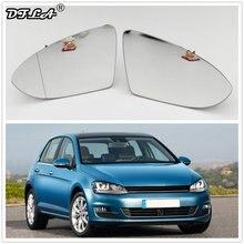 Vidro espelho para carro vw golf 7 mk7, 2013, 2014, 2015, 2016, 2017, para estilizar, vidro traseiro aquecido