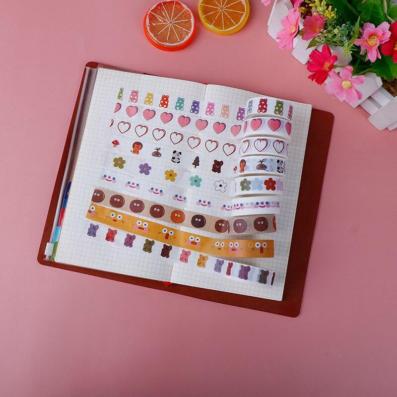 Masking Washi Tape Korean Cloud Smile Face DIY Decorative Adhesive Tape For Diary Scrapbooking Decoration Kawaii Stationery