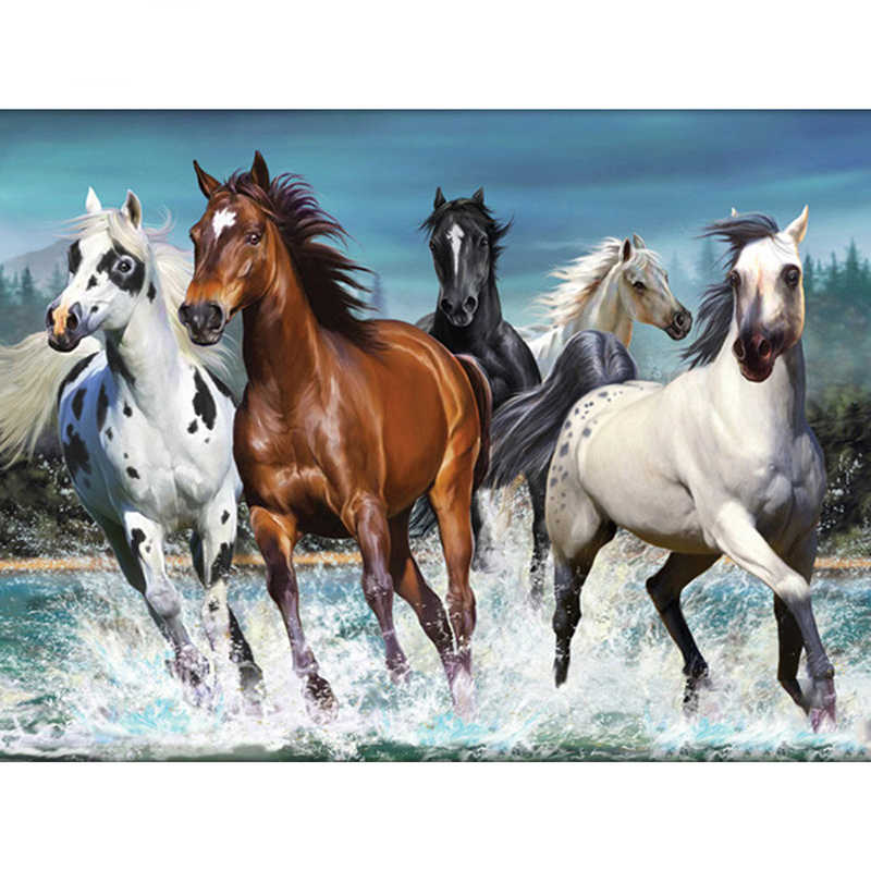 Pieno quadrato/rotondo Trapano 5D FAI DA TE diamante pittura di Paesaggio cavallo diamante ricamo mosaico rhineston punto croce Home decor M162