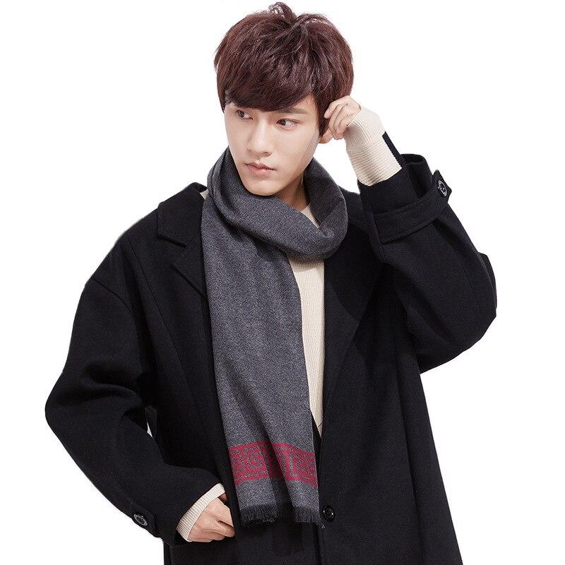 2019 New Style Autumn & Winter Scarf Men Business Simple Faux Cashmere Korean-style Versatile Scarf Tassels Shawl Wholesale