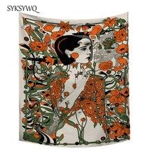 Хиппи Декор гобелен настенный домашний декор богемное женское цветочное настенное одеяло