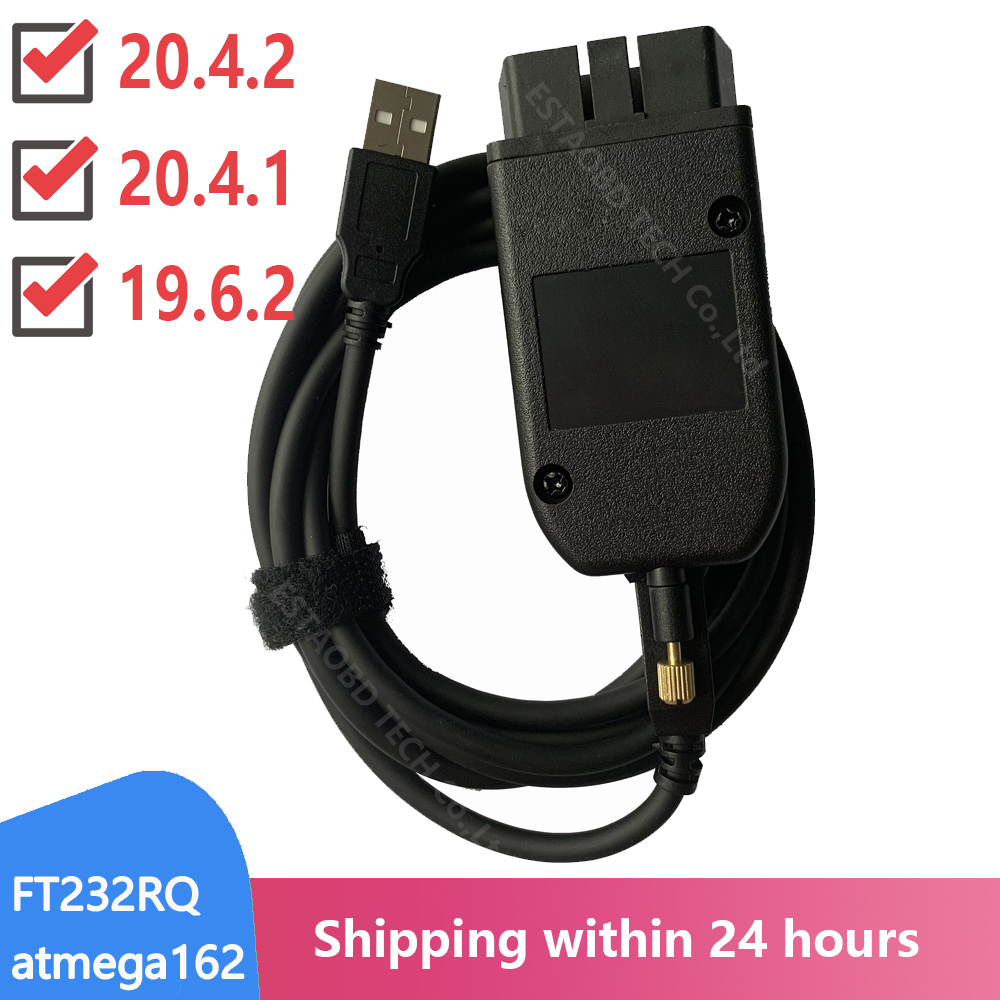 Vag com 20.4 vagcom 20.4.2 hex pode interface usb para vw audi skoda seat vag 19.6 multi idioma atmega162 + 16v8 + ft232rq|Analisador de motor|   -