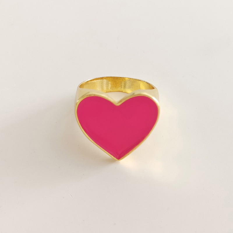 19 New Arrivals Must Have Vintage Gold Color Red Heart Rings For Women Minimalist Party Knuckle Rings Size 7 9