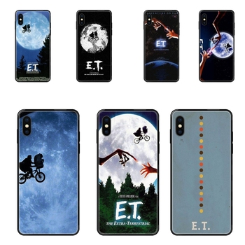 Black Soft Fashion Mobile Phone A Boy Et The Extra Terrestrial For Galaxy S20 S10e S10 S9 S8 S7 S6 S5 edge Lite Plus Ultra Colou image