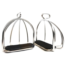 New Sale 2 Pcs Cage Horse Riding Stirrups Steel Horse Saddle Anti-Skid Horse Pedal Equestrian Safety Equipment