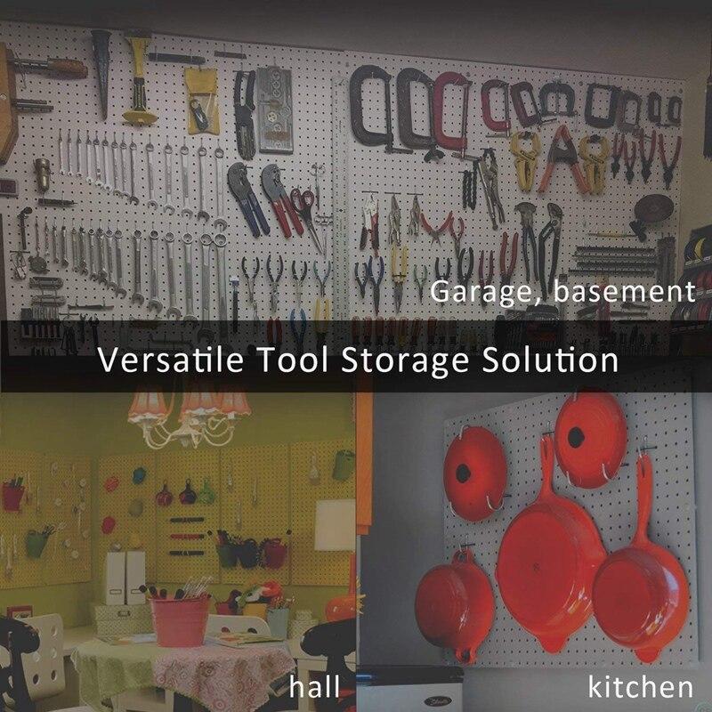 NEW Pegboard Hooks Assortment Home Storage Hooks System Peg Board Tool Hanger Set Garage Kitchen Workshop Organizer Utility Hook