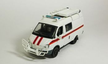 Scale models DeAGOSTINI1/43 GAZ 2705 Ambulance Bus diecast car for collection gift