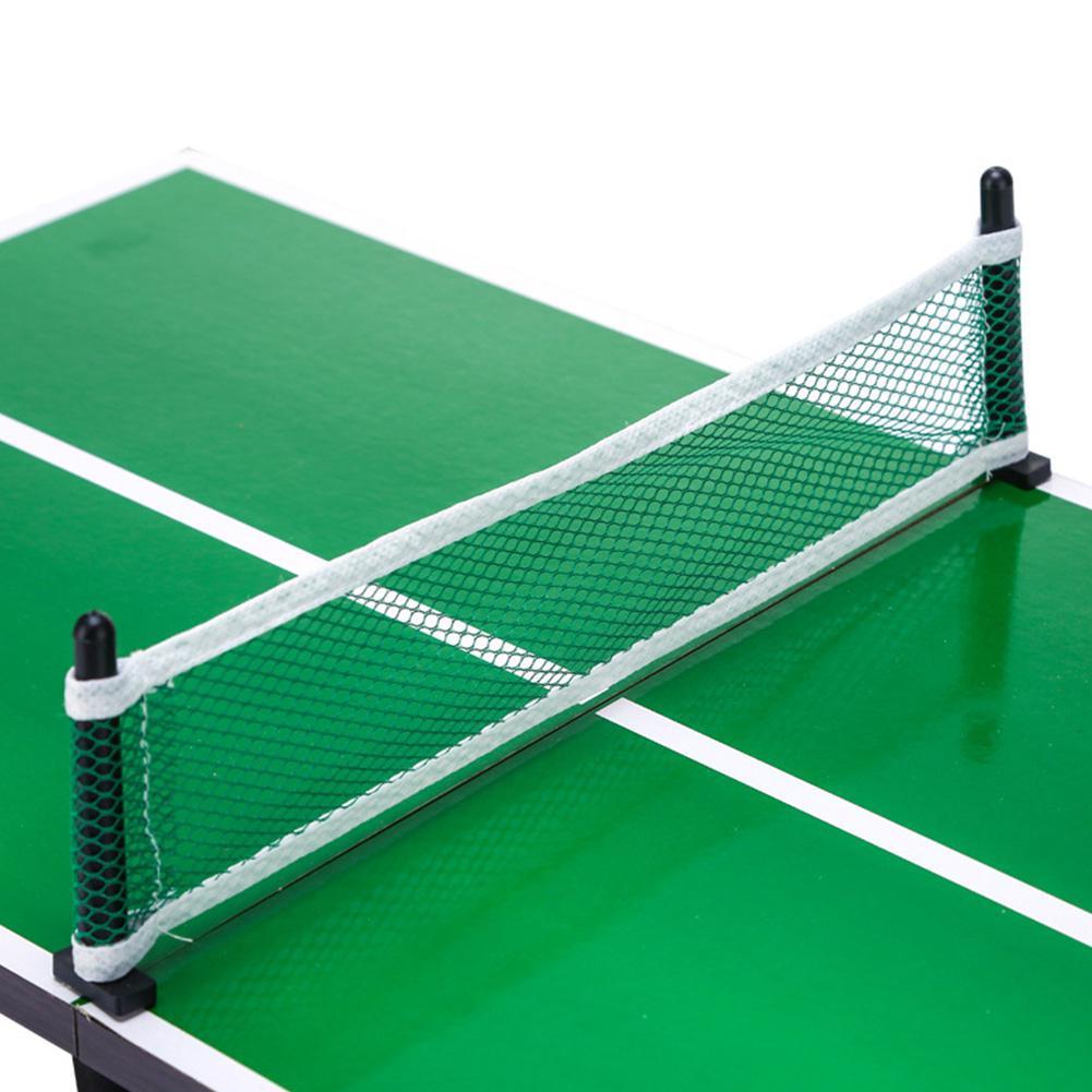 Мини-набор для настольного тенниса, складной деревянный стол для пинг-понга с 2 ракетками, портативная настольная игра для помещений, детская игрушка 5