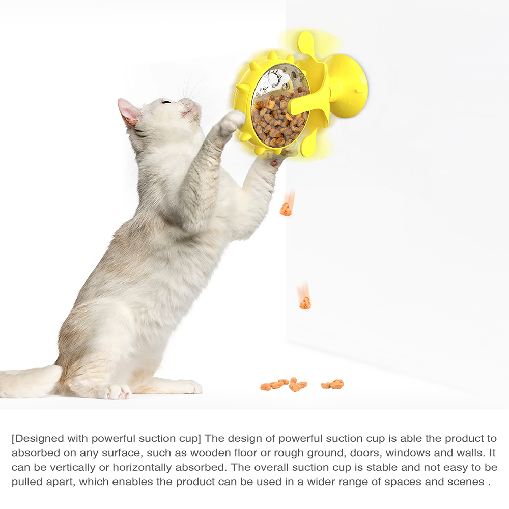 Interactive Treat Leaking Toy for Small Dogs/Cats Slow Dog/Cat Feeder Funny Wheel Pet Products Accessories 4
