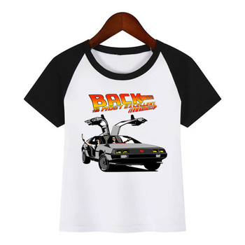 Children New Cartoon Back to the Future DMC Delorean Print Summer T-shirt Kids Fashion Clothing T Shirt Children Cartoon T-shirt цена 2017