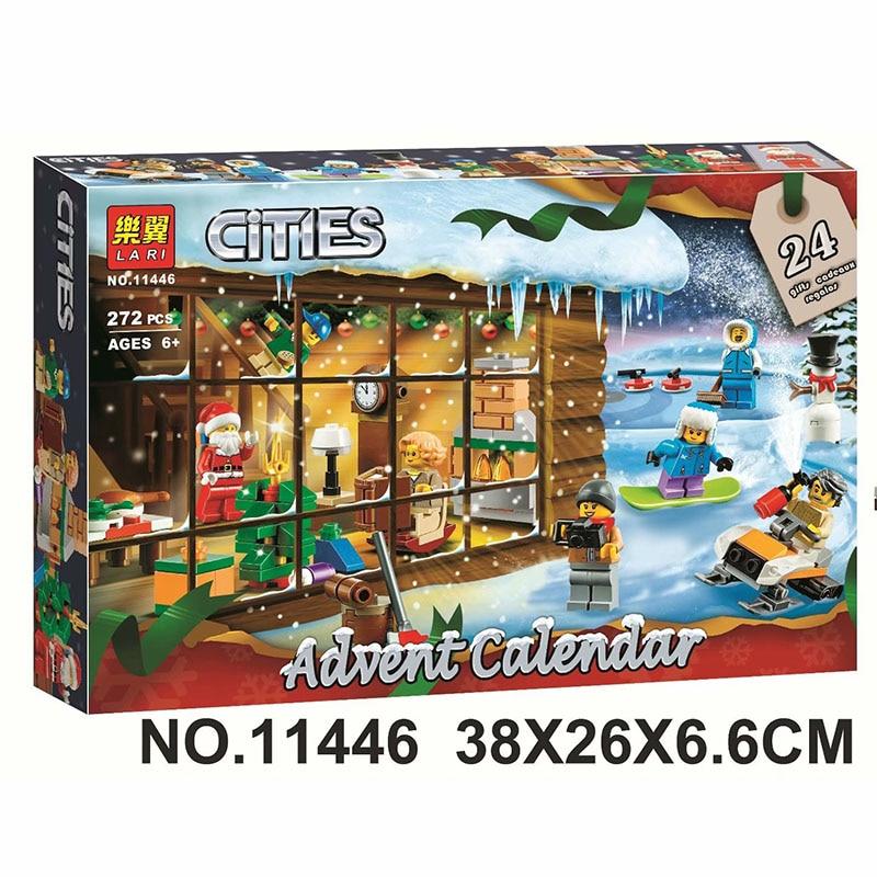 Without Box 2019 NEW Legoinglys City Series Advent Calendar Building Blocks Bricks Kids Toys Christmas Gift 60235 272pcs