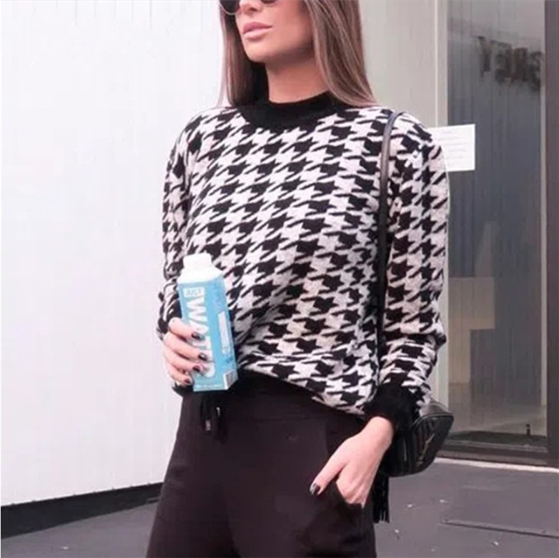 2020 Fashion casual Winter Women Sweater black