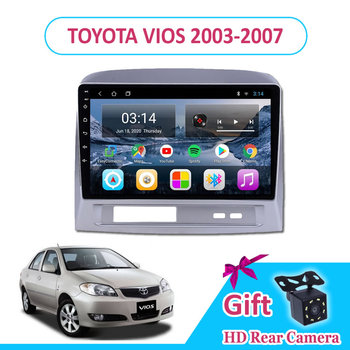 9'' IPS Android 9.0 TOYOTA VIOS 2003/2004/2005/2006/2007 Car Radio Multimedia GPS Navigation Navi Player Auto Stereo 2din WIFI image
